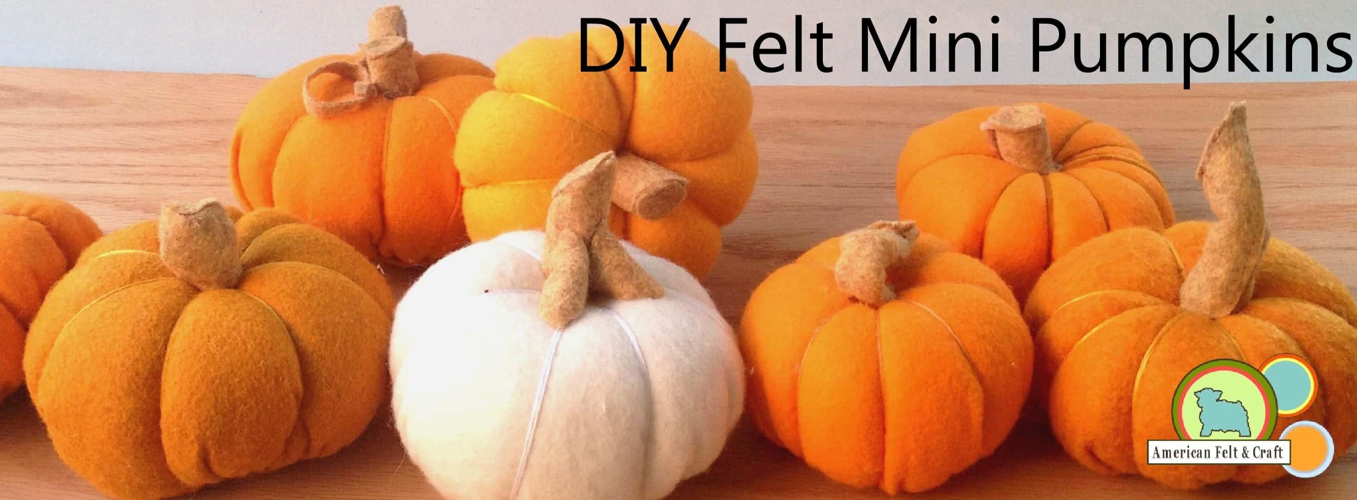 DIY felt mini pumpkins 15 Cute Fall Pumpkin Crafts