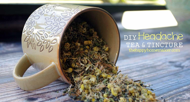 DIY headache tea and tincture
