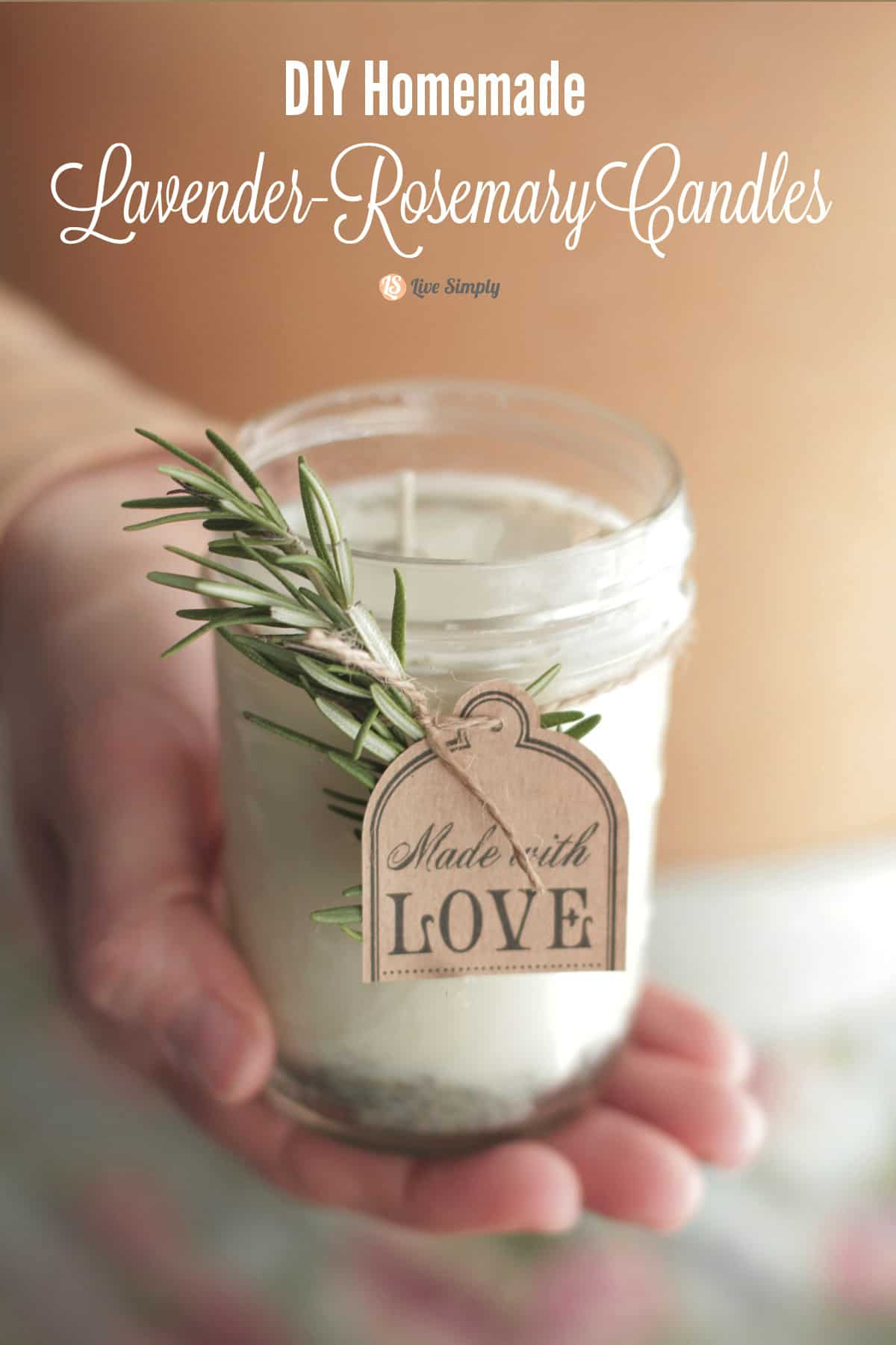 DIY rosemary lavender candle