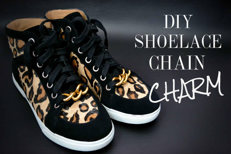 DIY shoelace chain charm