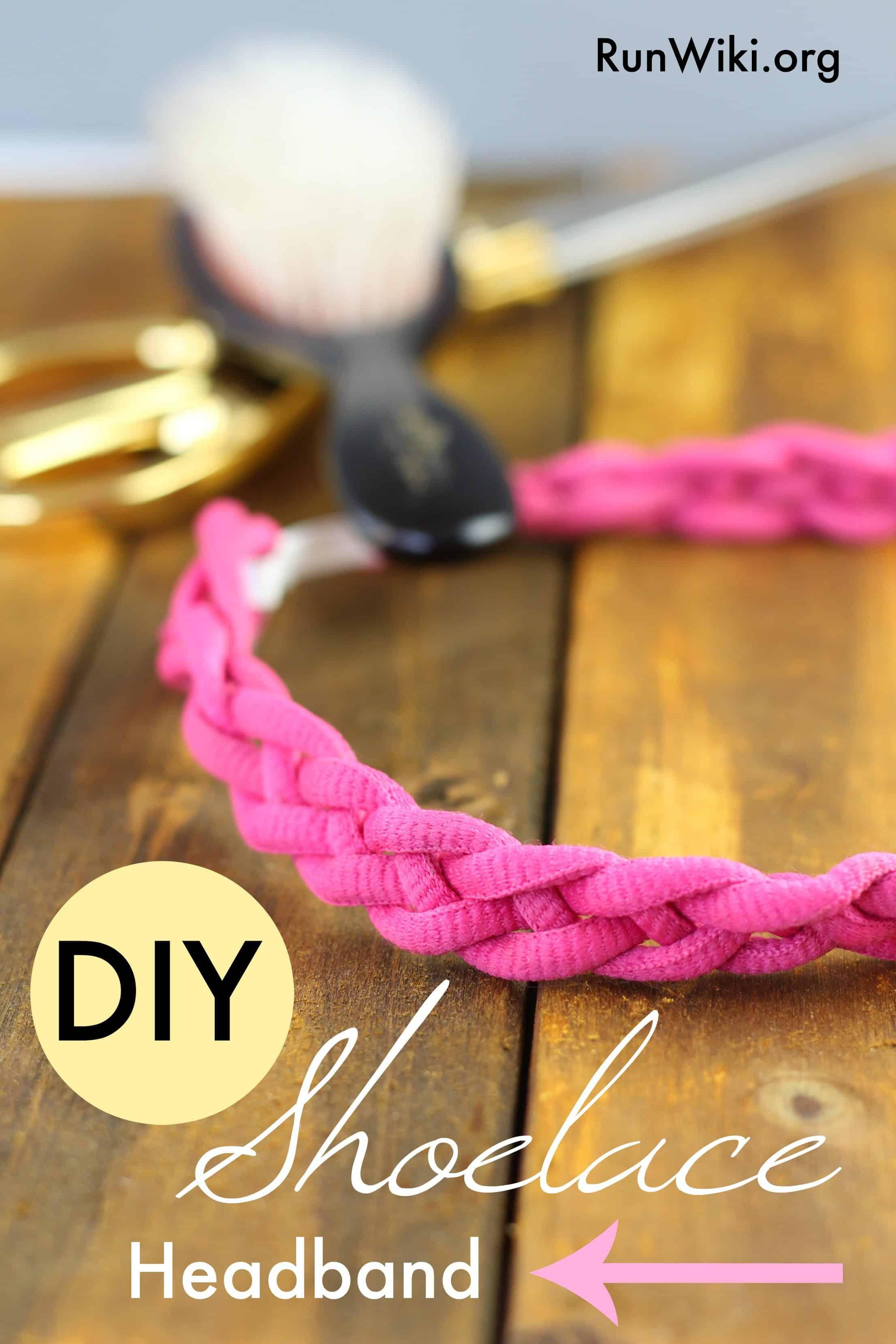 DIY shoelace hairband