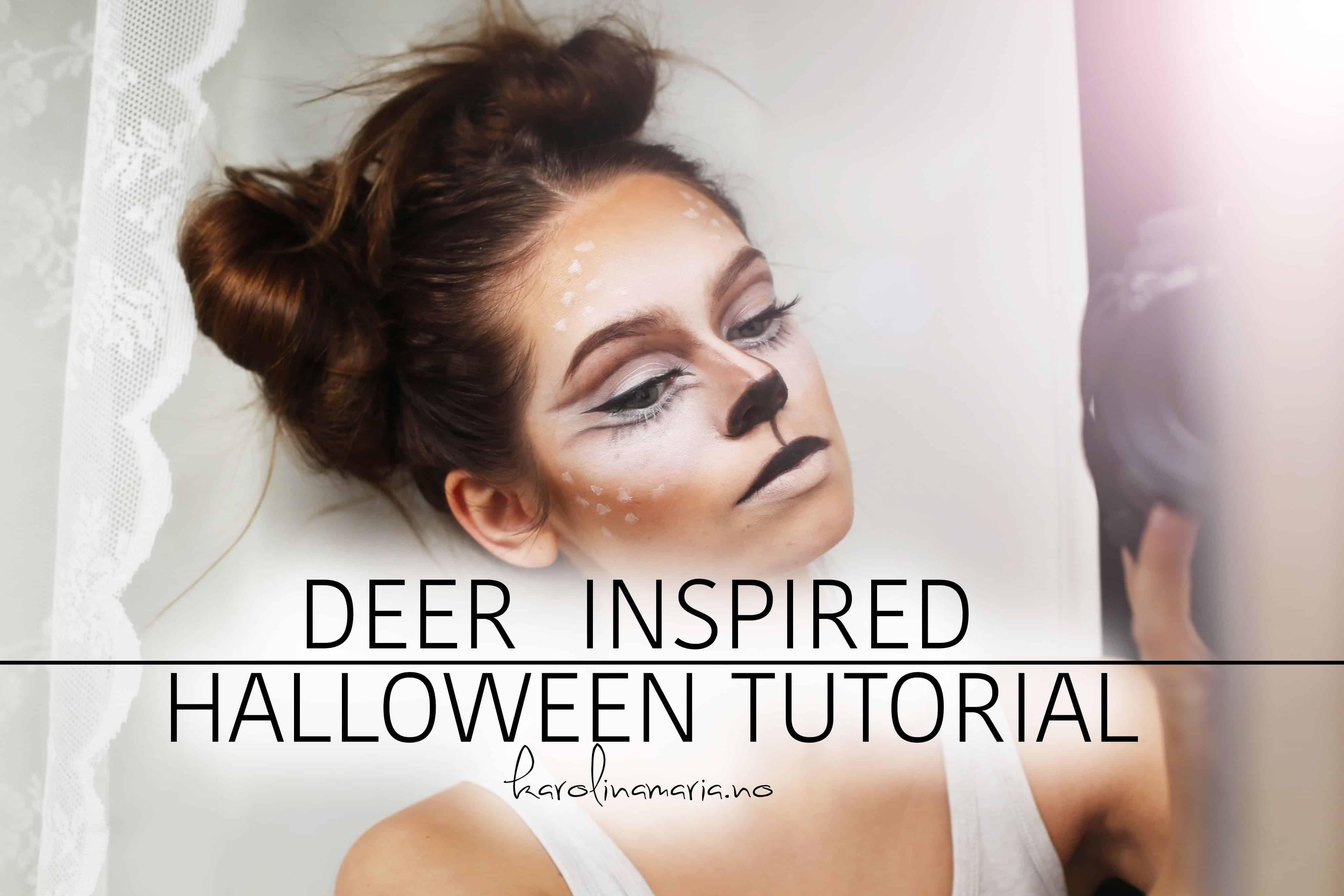 Deer inspired makeup