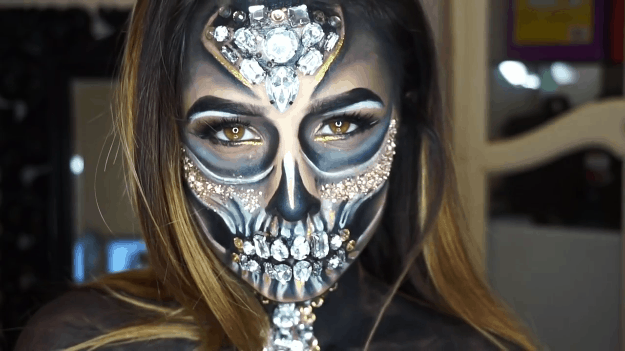 Diy Skeleton Makeup The Terrifyingly Beautiful Halloween