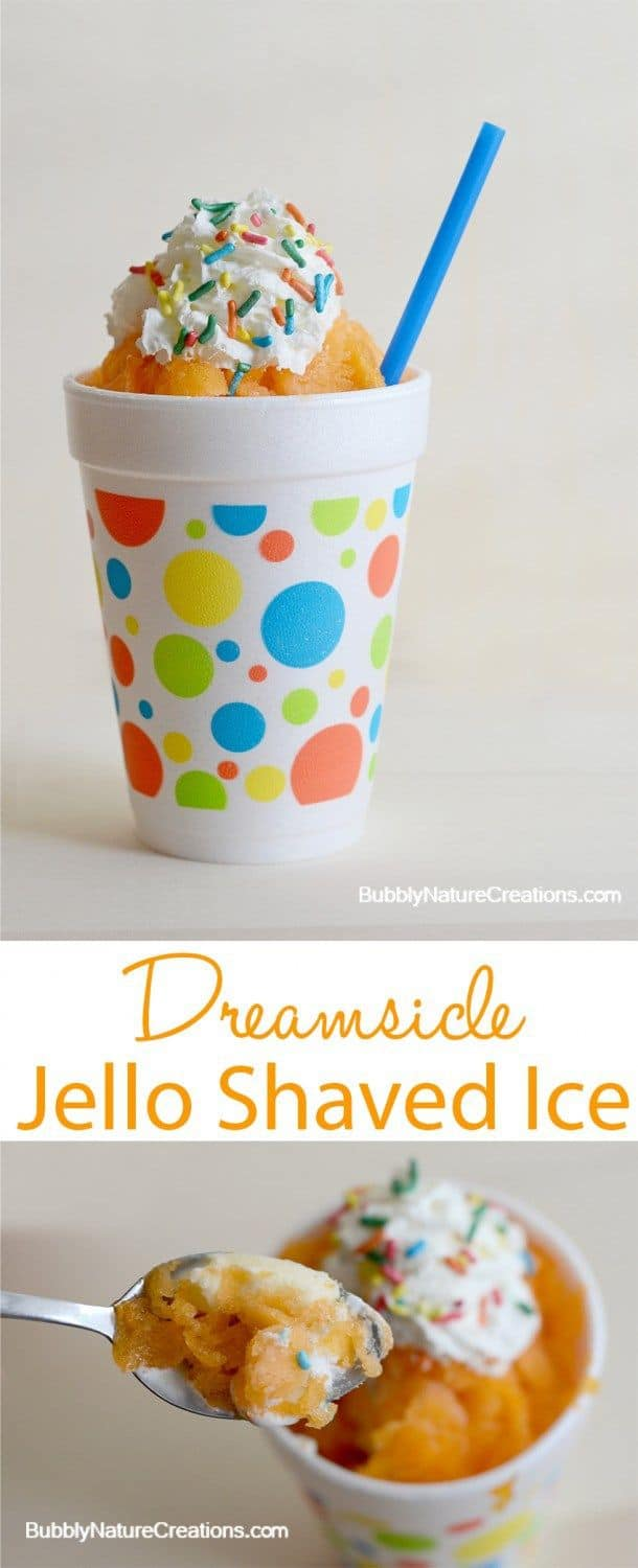 Dreamsicle Jello shaved ice