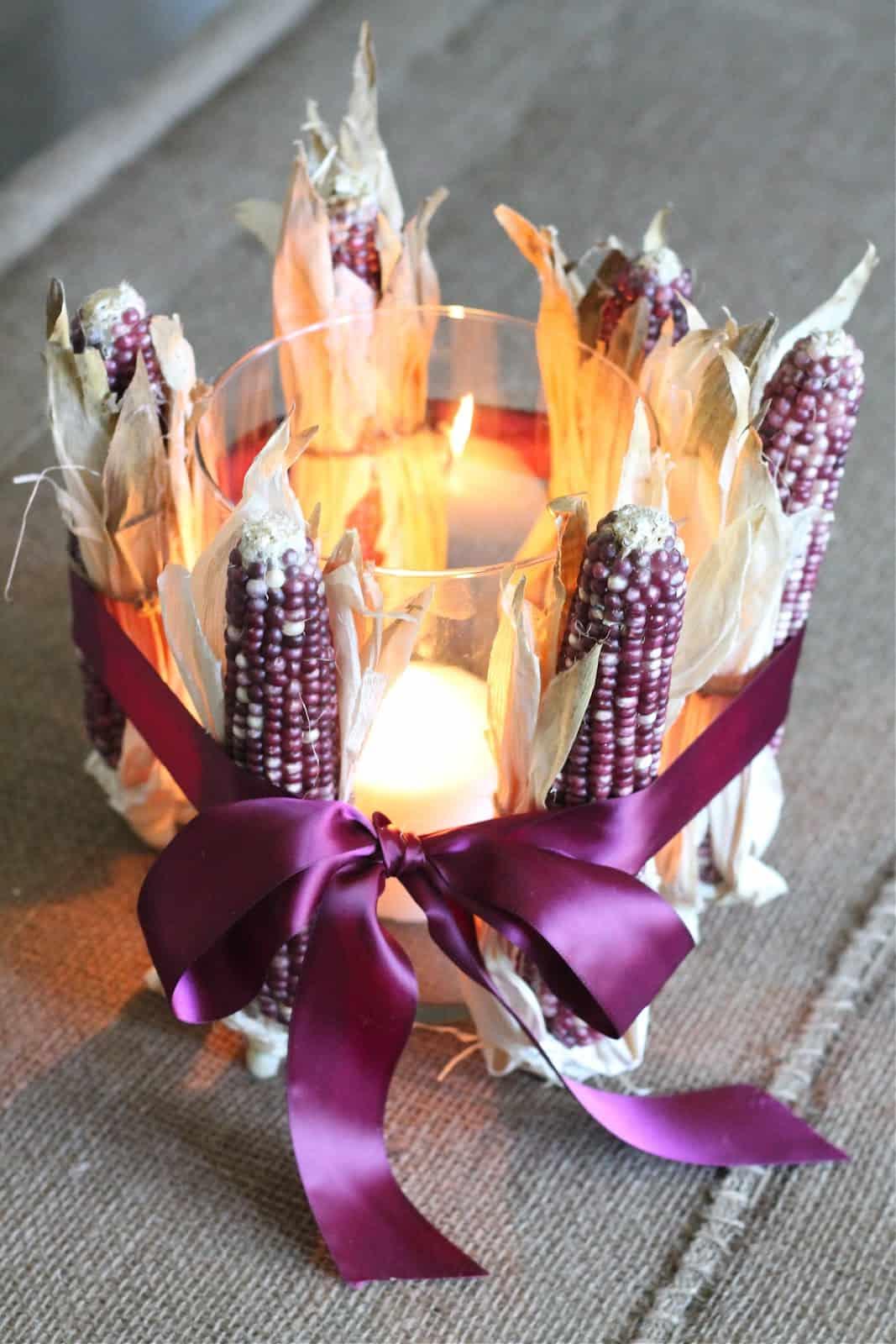 Dried corn centerpiece