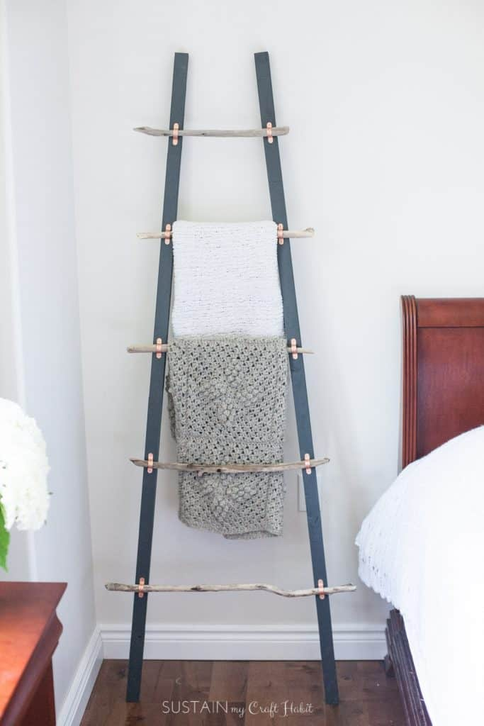 Driftwood blanket ladder