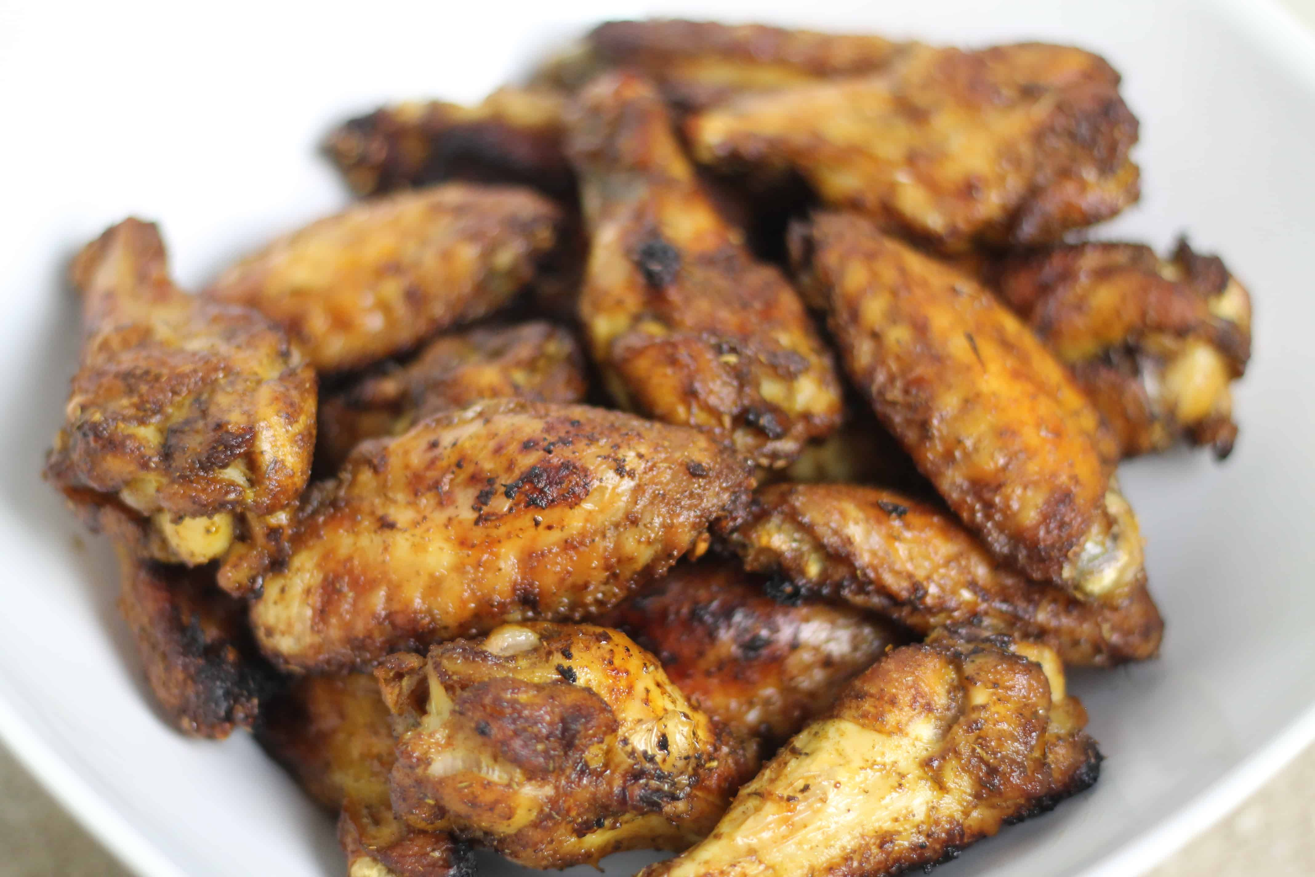 Dry rub spiced chicken wings