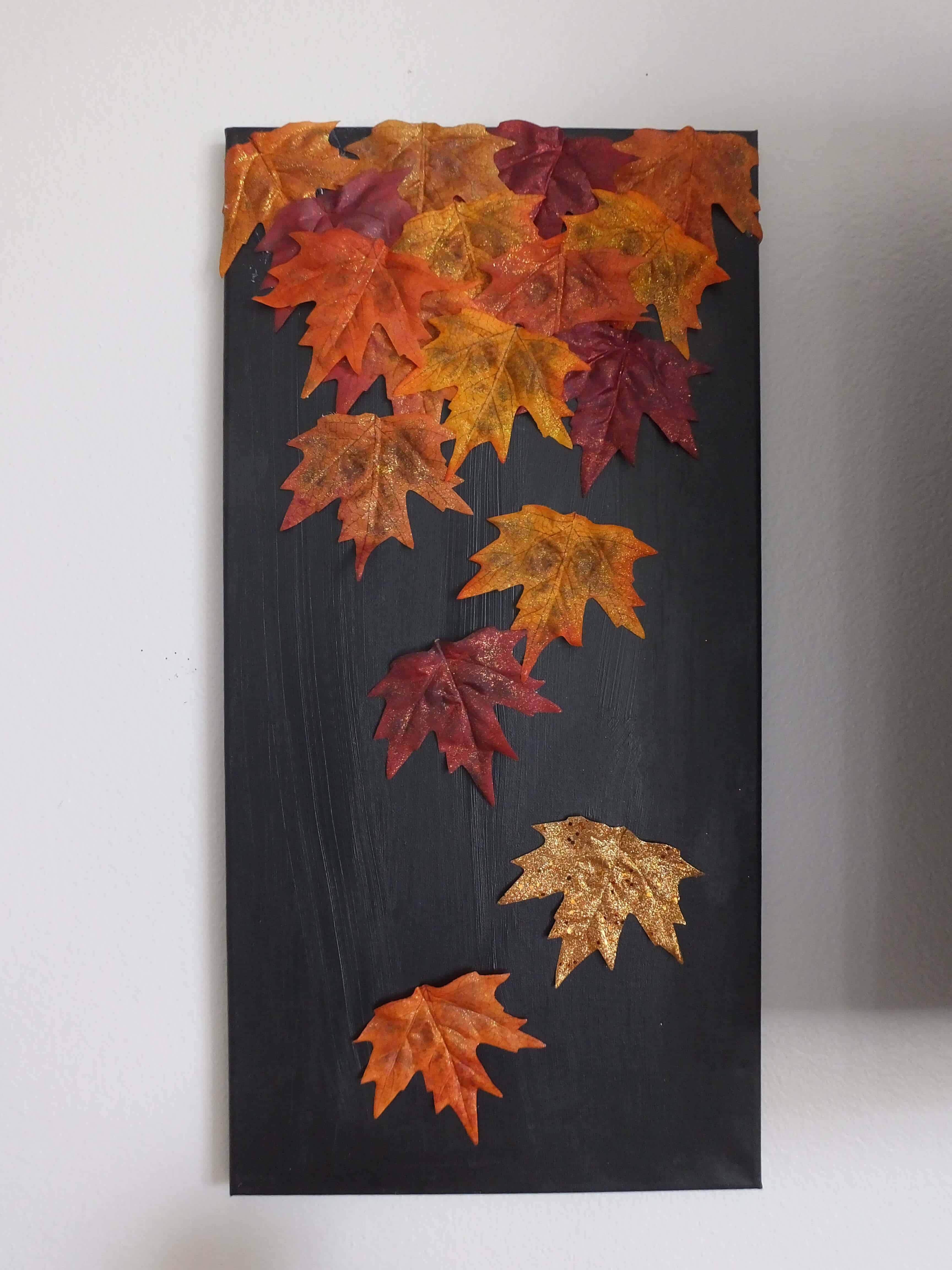 Fall leaves canvas