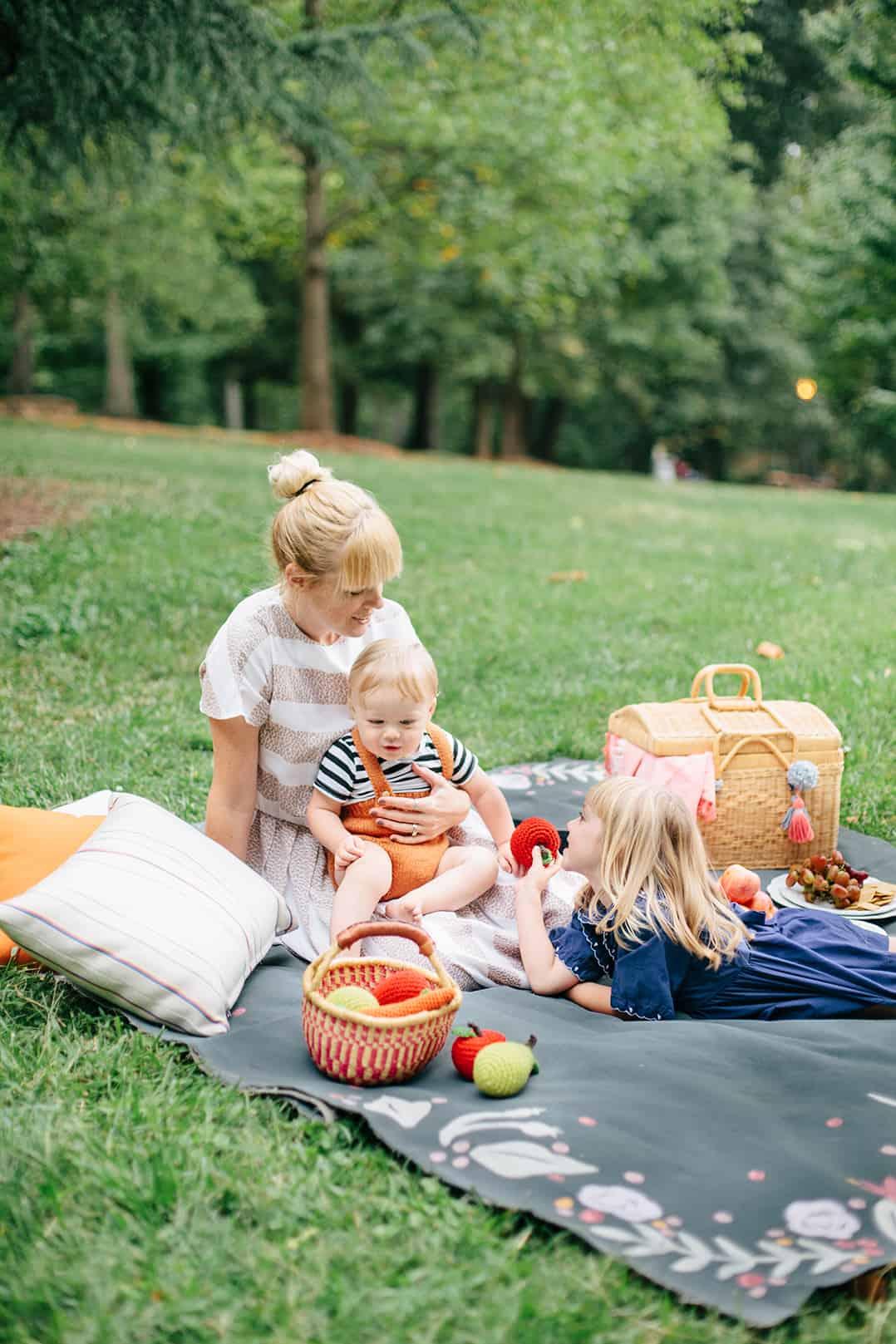 Fall picnic blanket