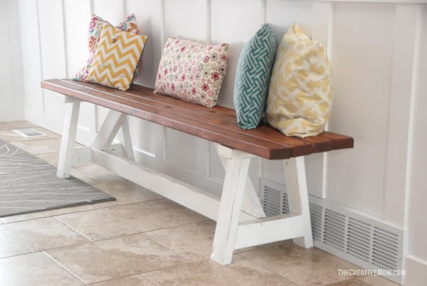Farmhouse indoor bench