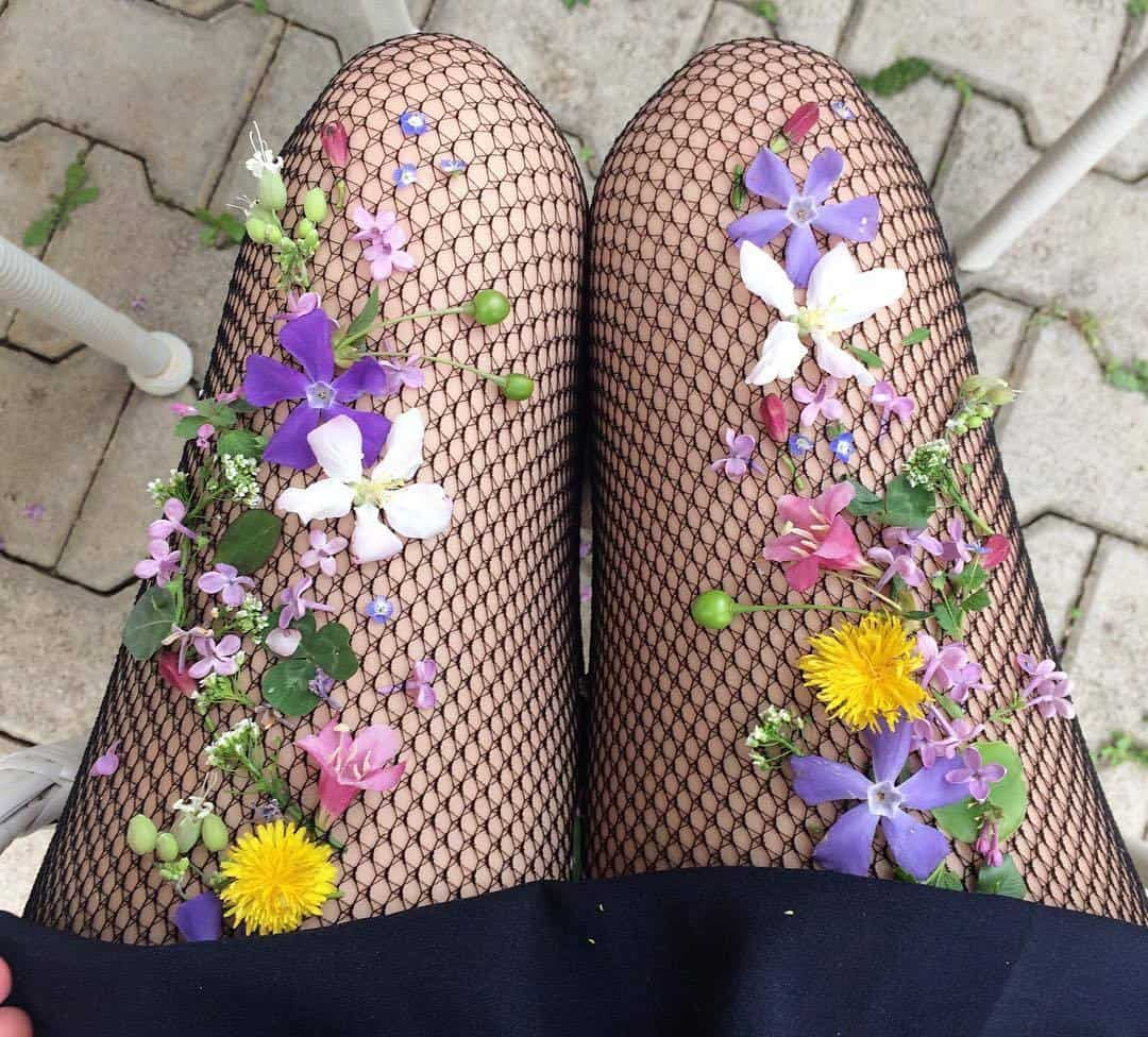Floral summer fishnets