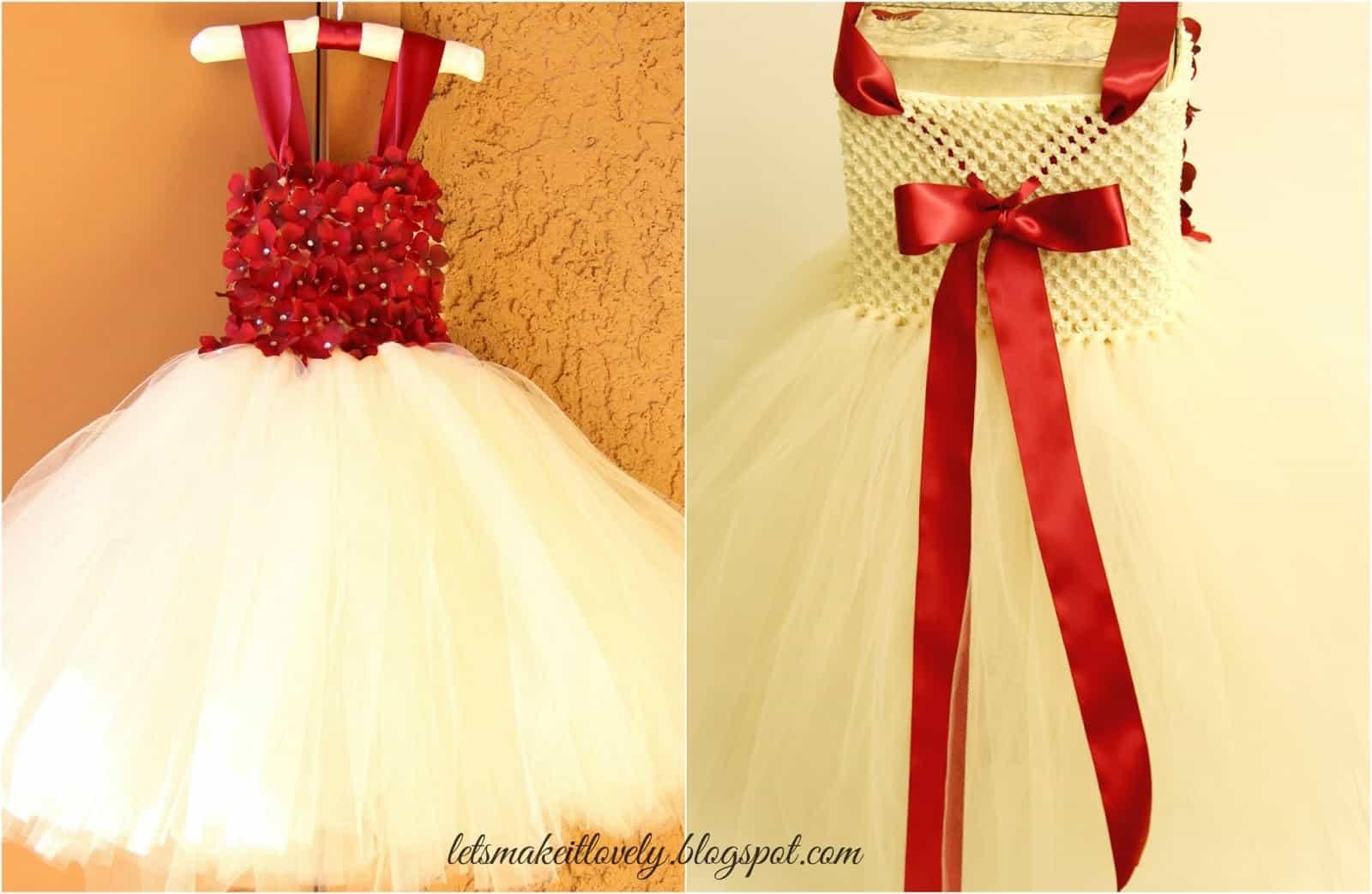 Simply adorable 15 easy to craft diy tutu designs 11 floral topped tutu dress solutioingenieria Choice Image