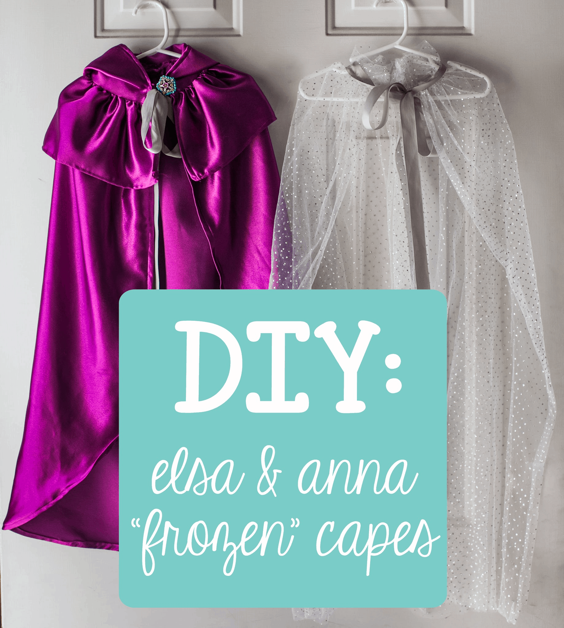 Frozen Anna and Elsa capes