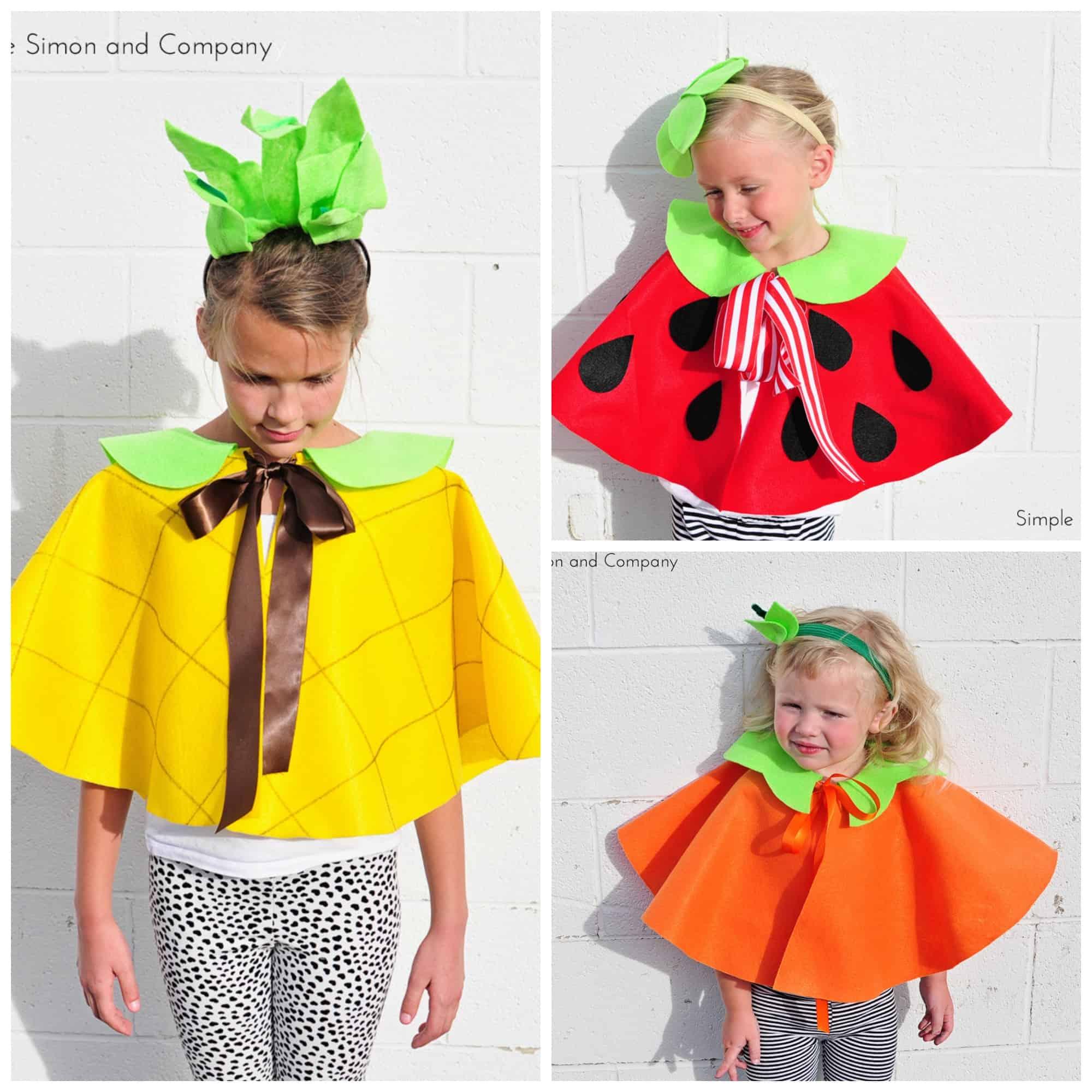 Fruit costume capes