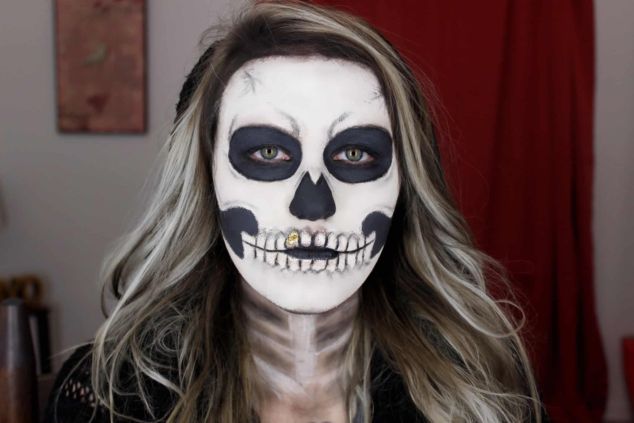 Halloween Make Up Skelet.Diy Skeleton Makeup The Terrifyingly Beautiful Halloween Trend