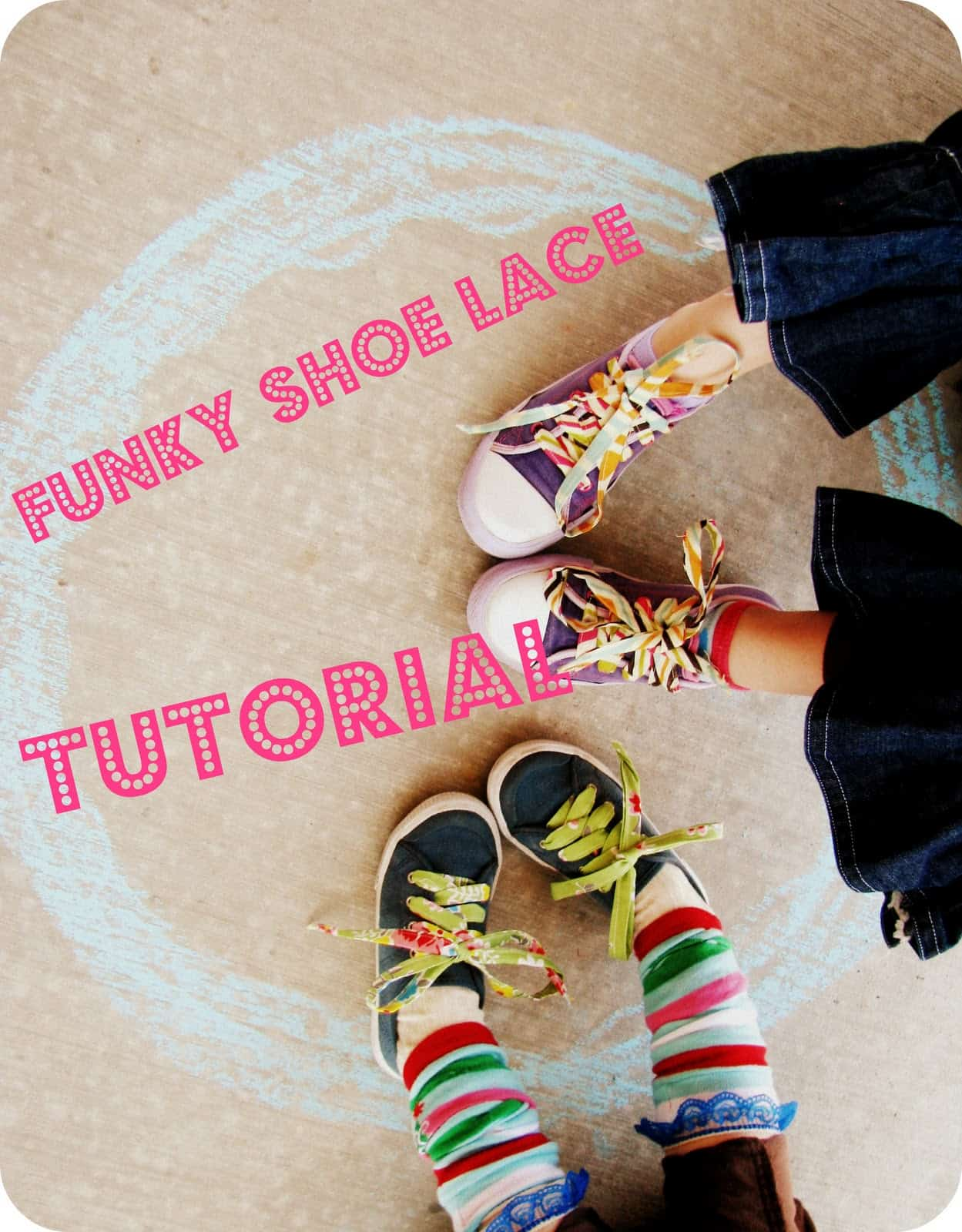 Funky fabric shoelaces