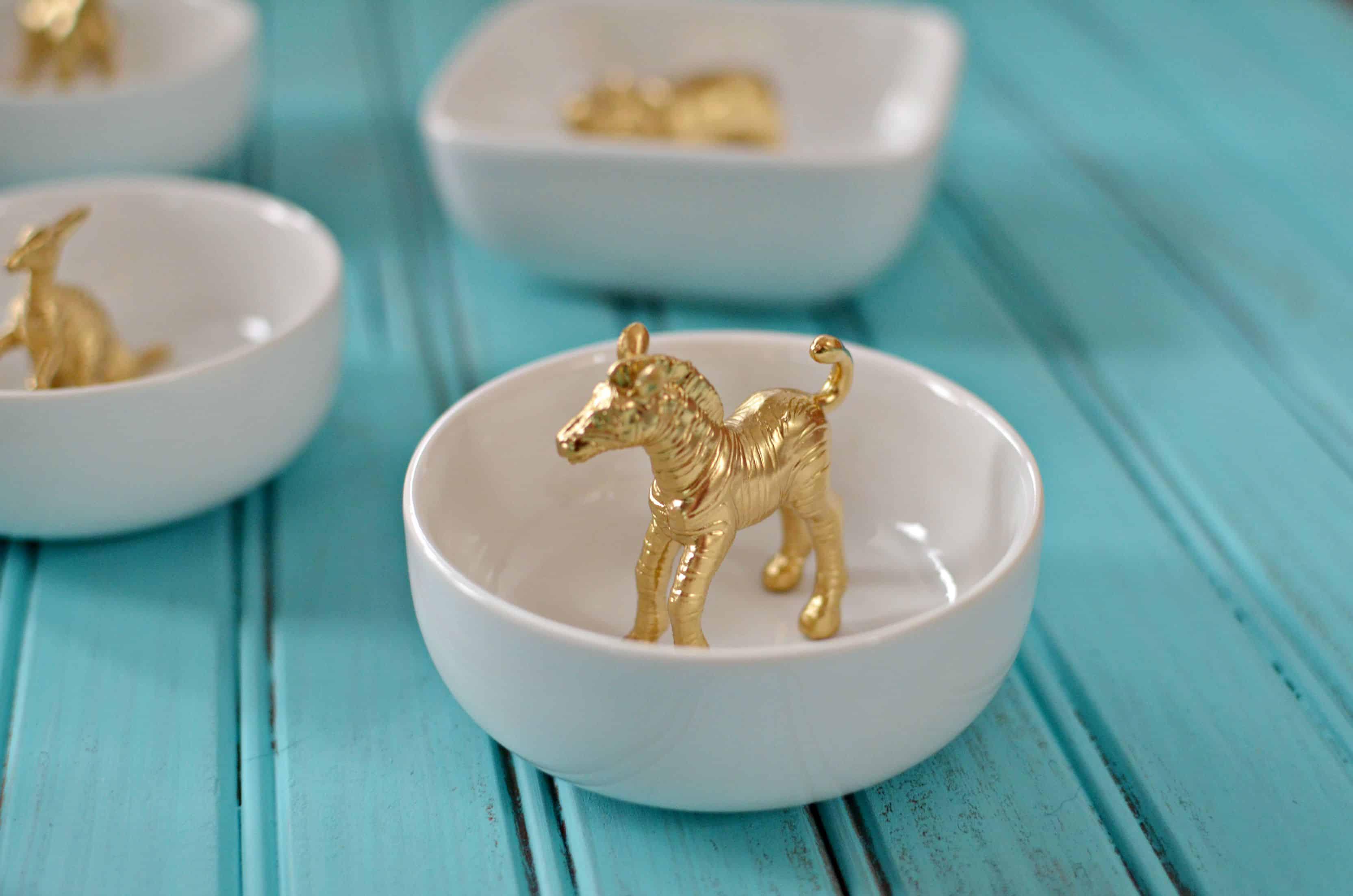 Gold animal trinket dish