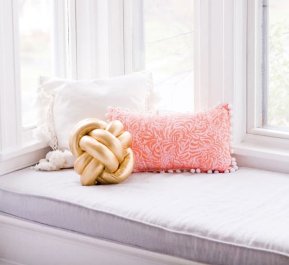 Gold knot pillow