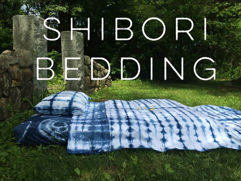 Hand dyed Shibori bedding