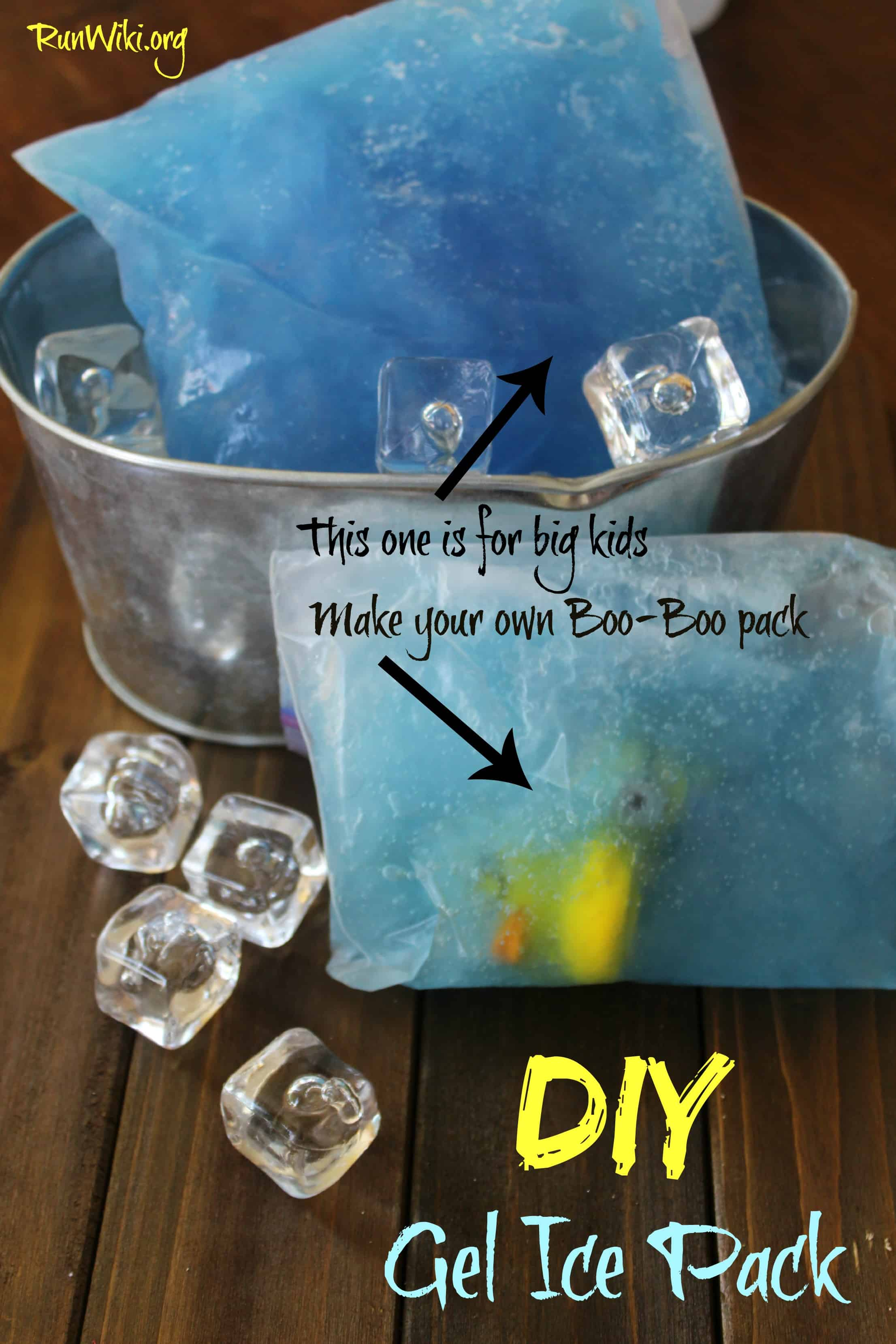 Homemade gel ice pack