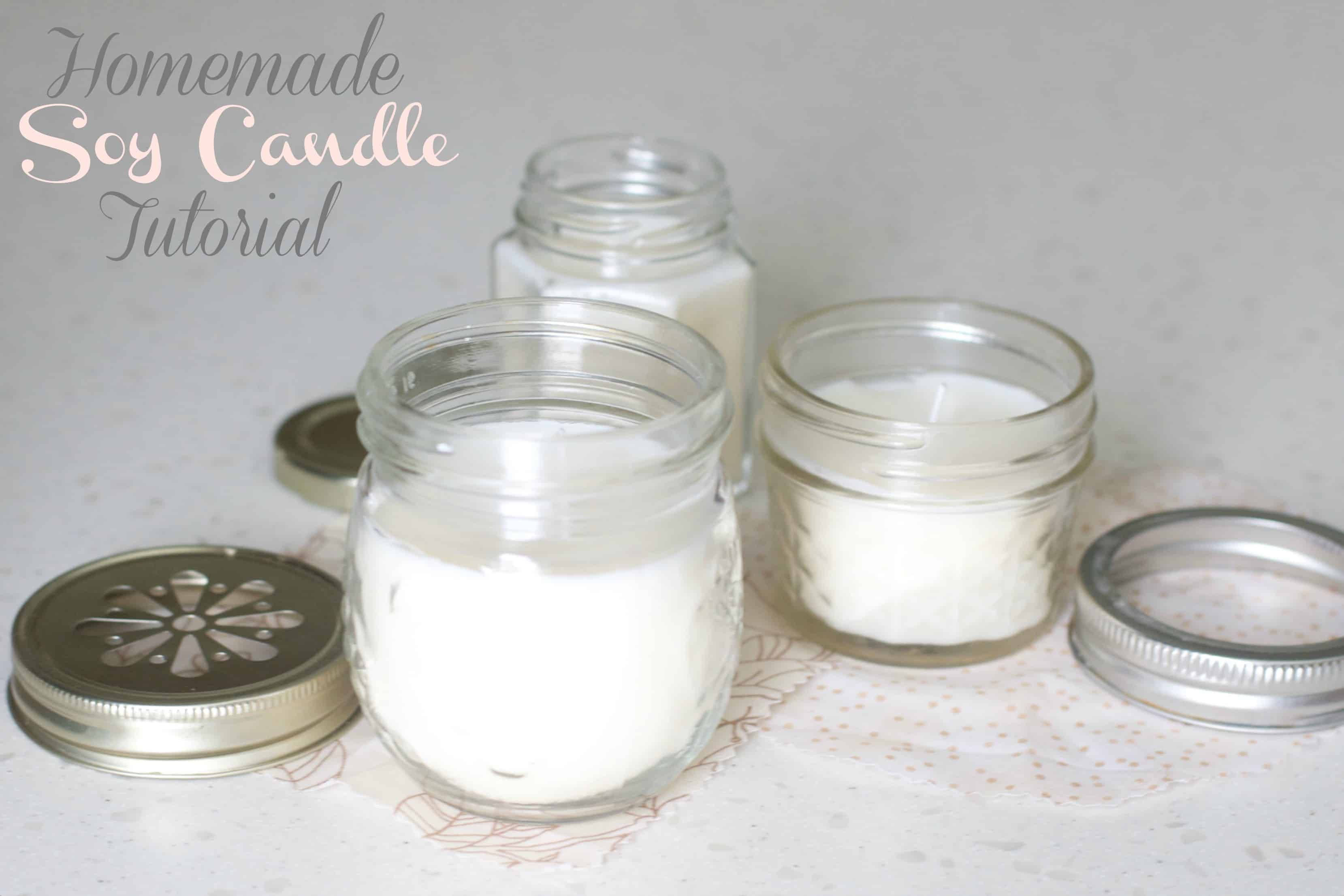 Homemade soy candle