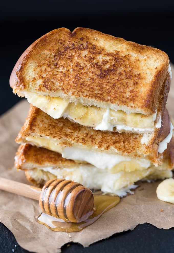 Honey banana grilled cheese