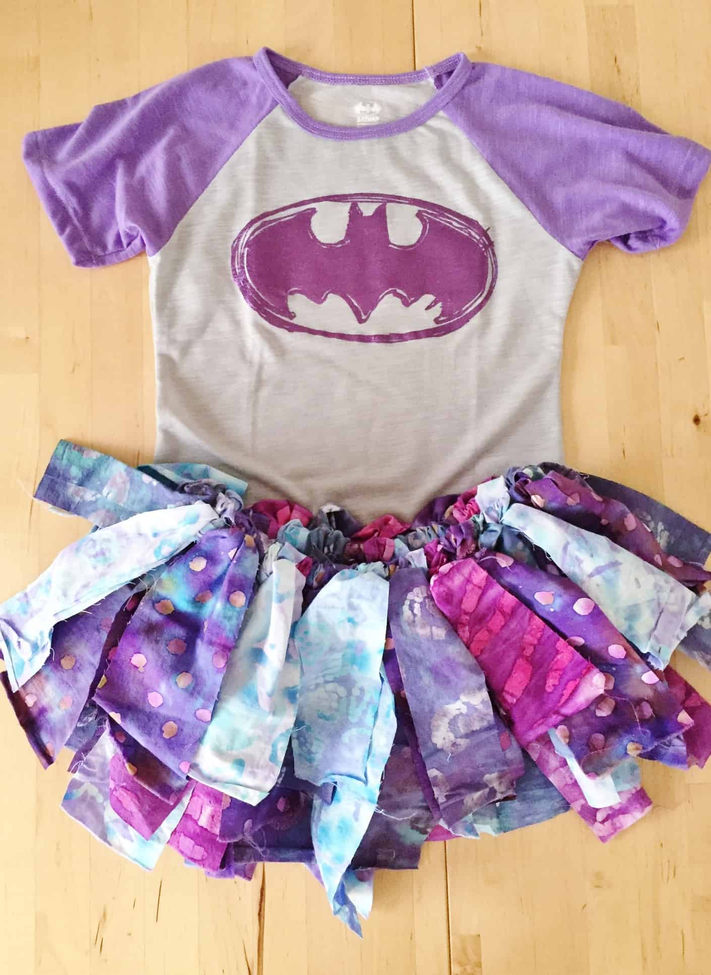 Kids' fabric rag tutu