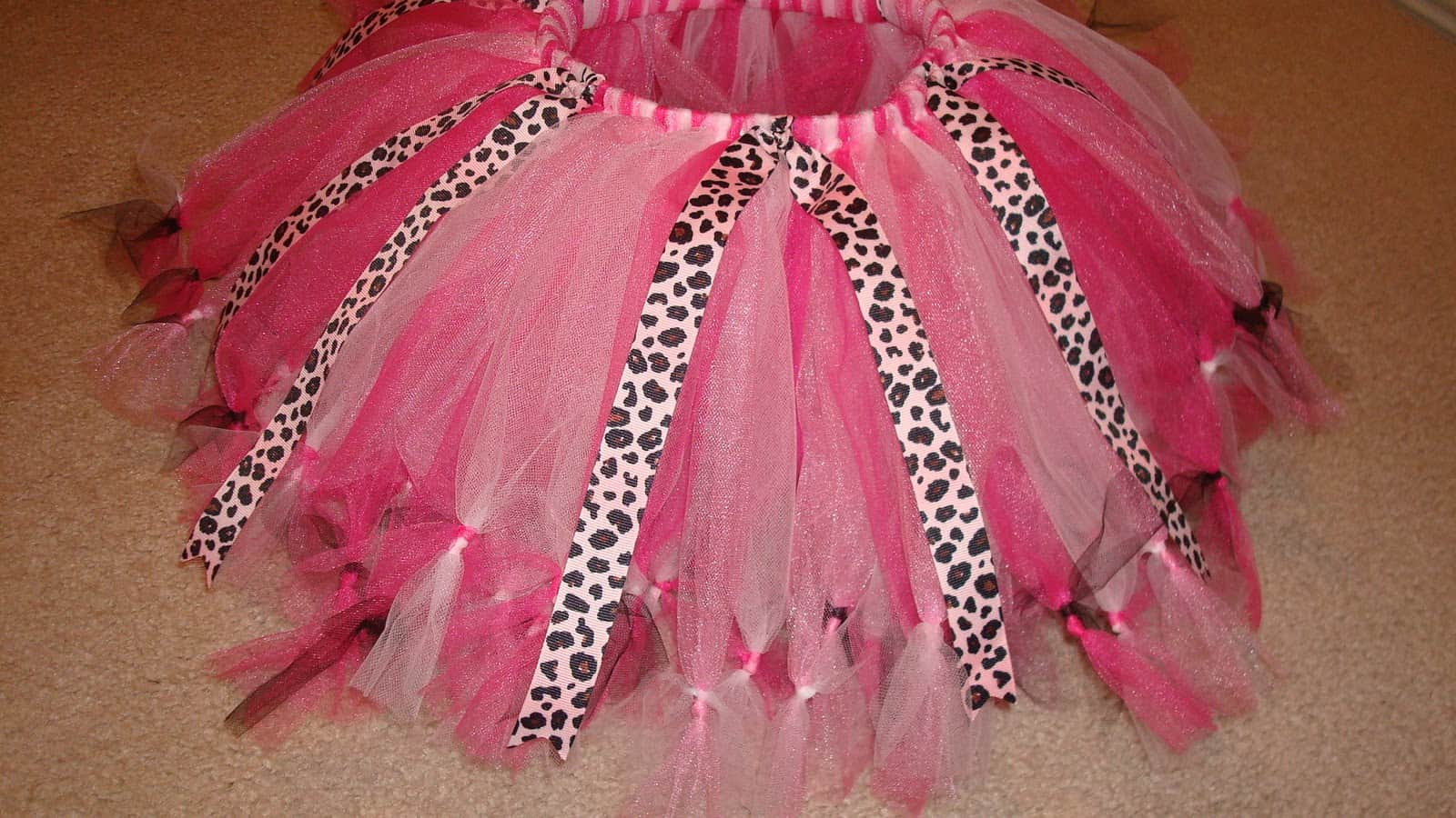 Knotted tulle and ribbon tutu