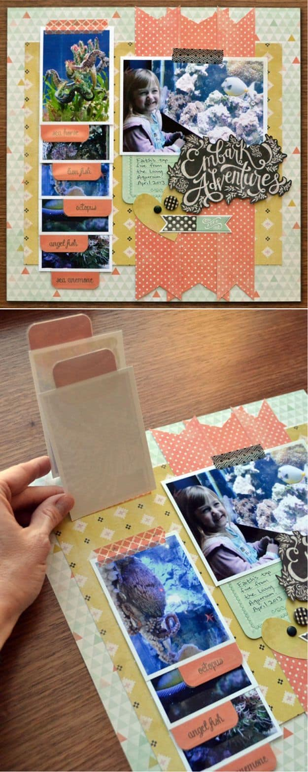 Lifting Card Scrapbook Pages