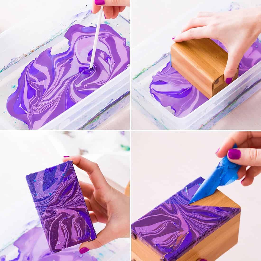 Marbled polish jewelry box