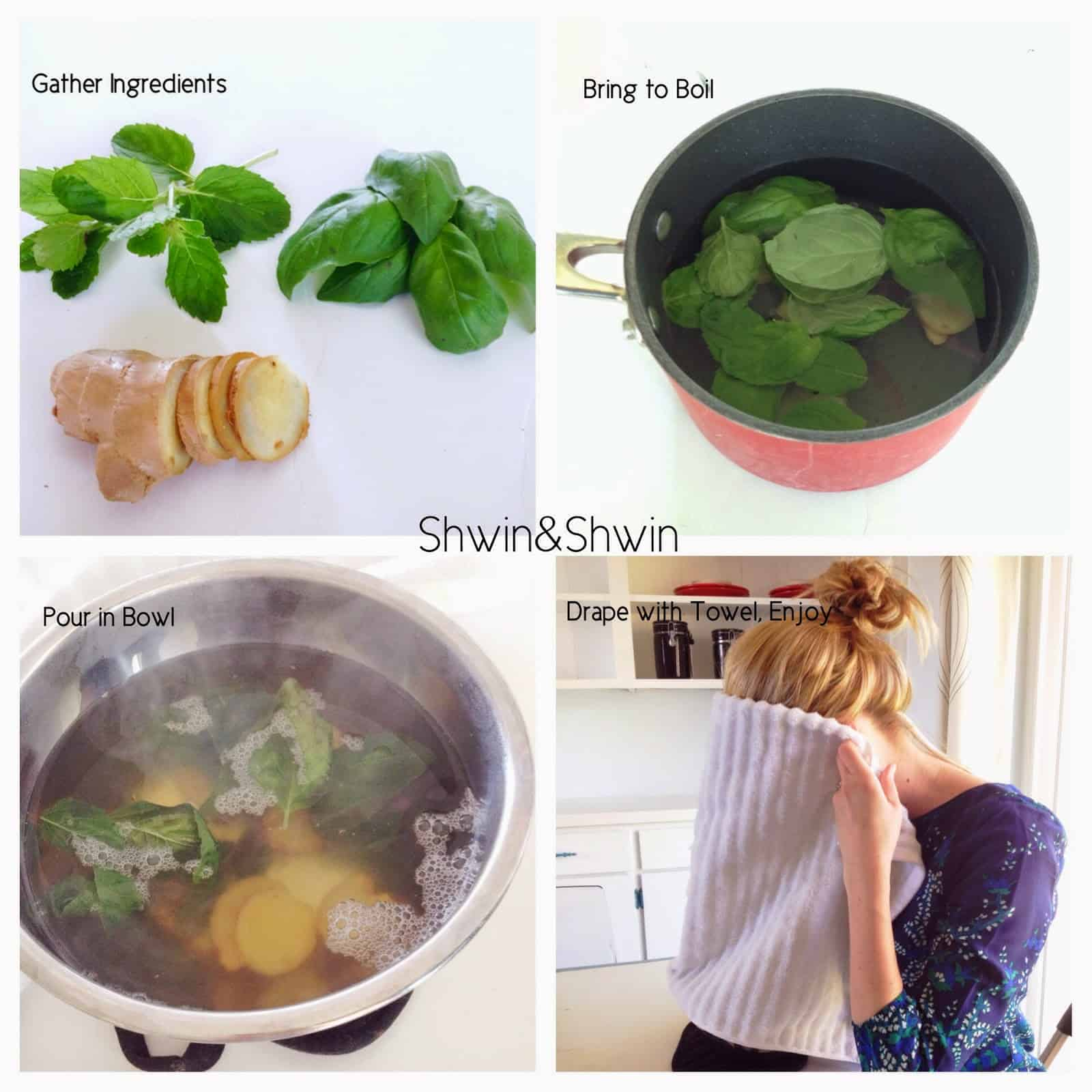 Mint and ginger steamer