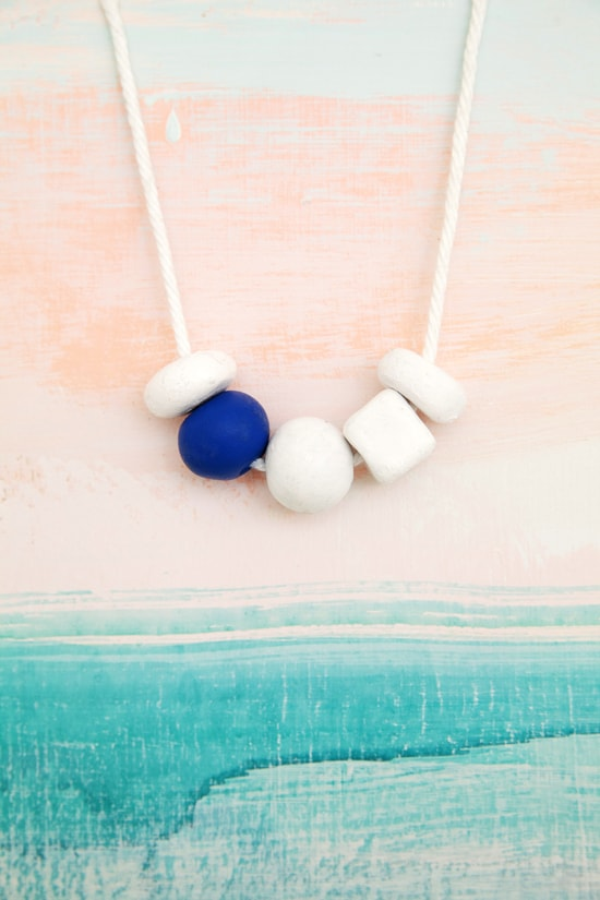 Modern bead necklace