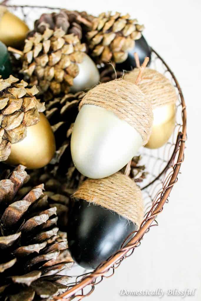 Modern fall acorns