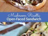 Mushroom ricotta open faced sandwich 200x150 Appreciating Finer Cuisine: Yummy Recipes for Mushroom Lovers!