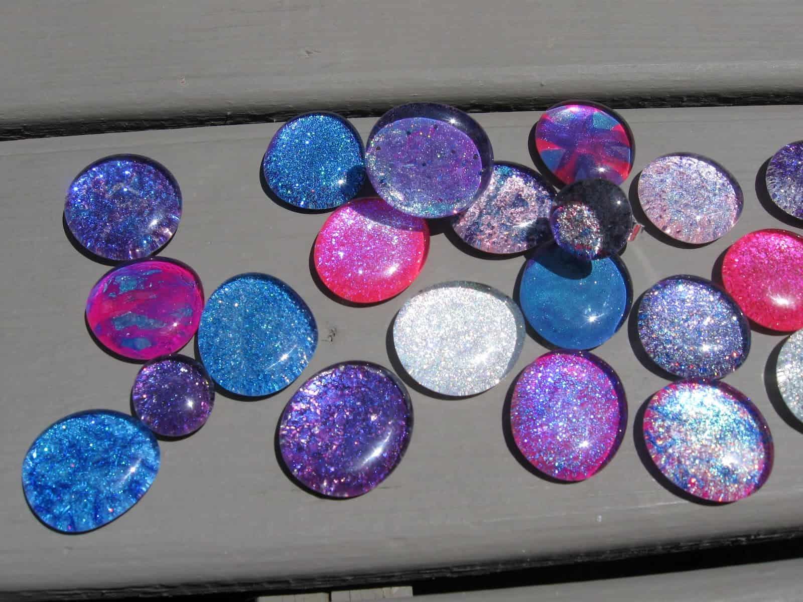 Nail polish marbles