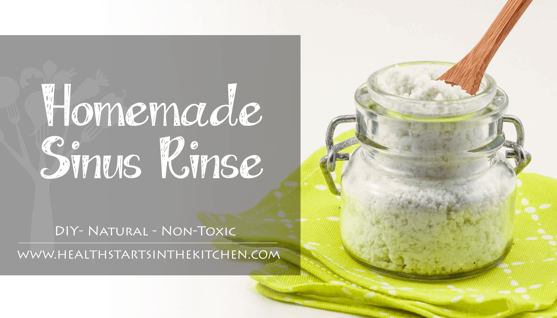 Non-toxic homemade sinus rinse