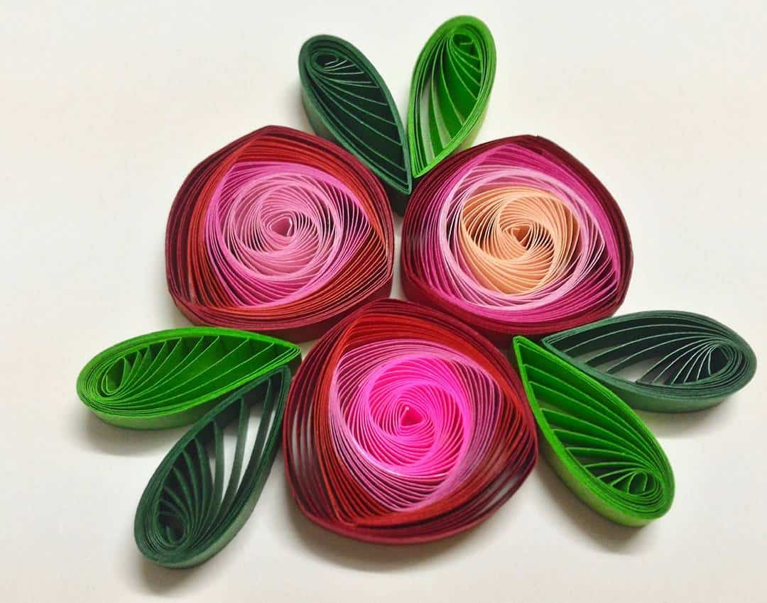 Trendy and brilliant 15 floral paper quilling projects 12 ombre layered quilled roses mightylinksfo