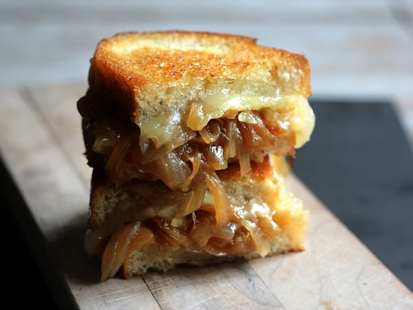 Onion grilled cheese