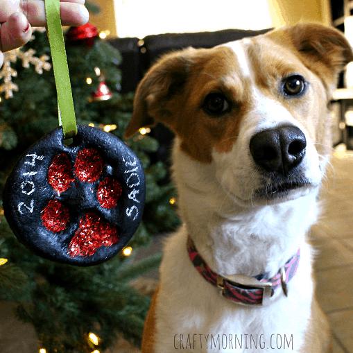 Paw print Christmas ornament