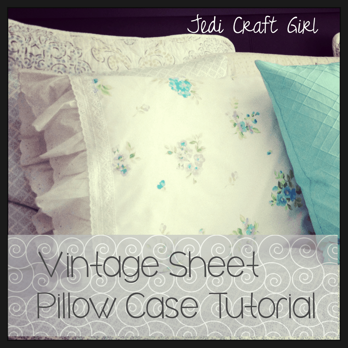 Pillow cases made from vintage sheets