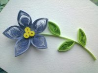 Pointed petal flower with a triple centre 200x150 Trendy and Brilliant: 15 Floral Paper Quilling Projects