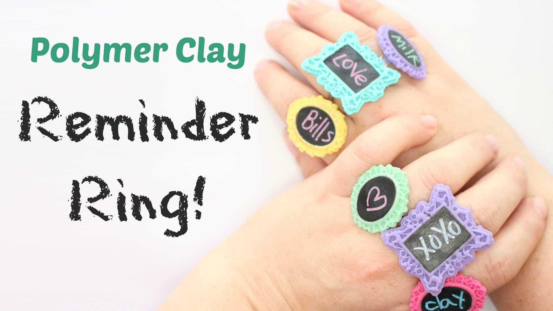Polymer clay reminder ring