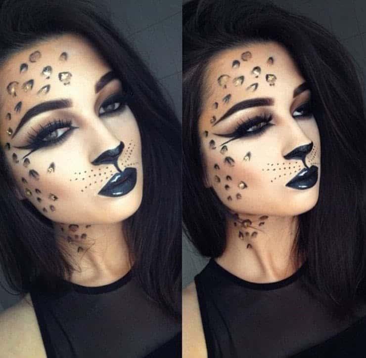 Pretty leopard makeup