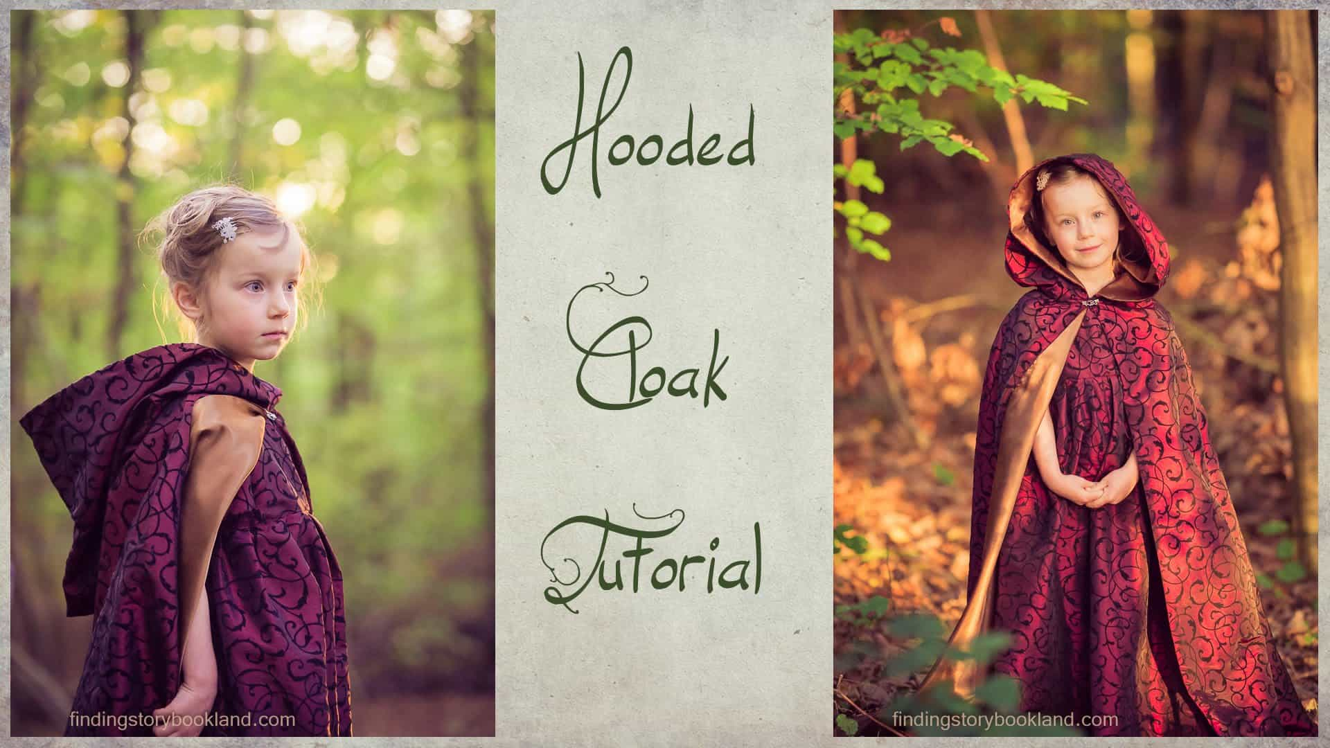 Princess style hooded cloak