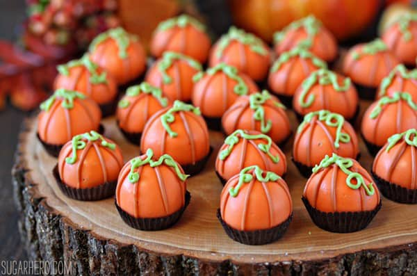 Pumpkin bread truffles