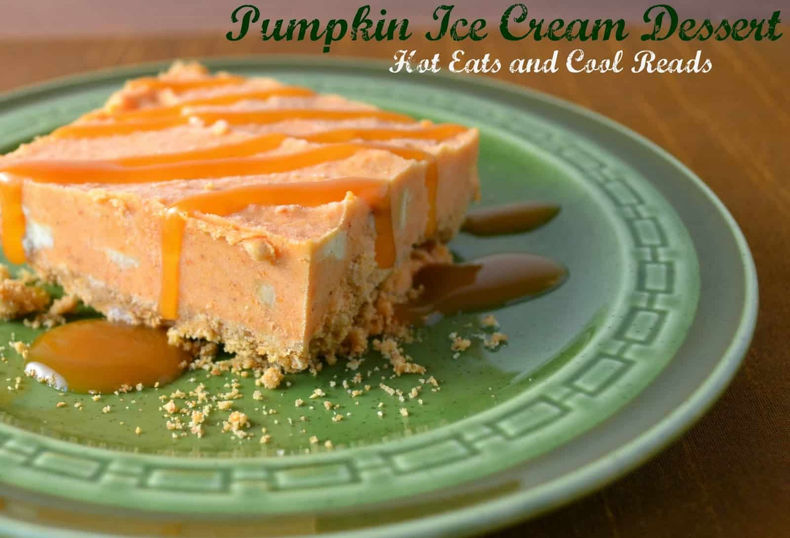 Pumpkin ice cream dessert