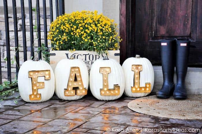Pumpkin marquee lights