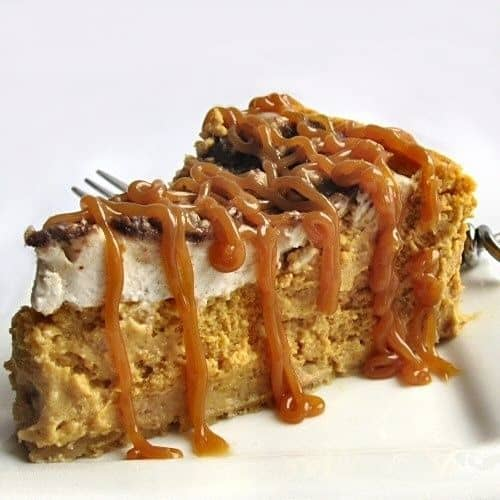Pumpkin toffee cheese cake