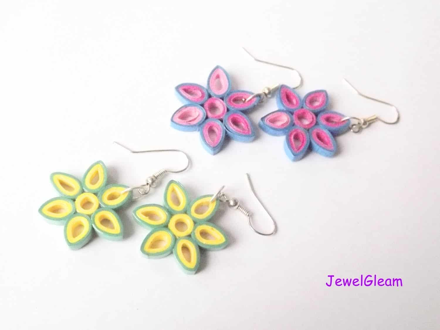 Trendy and brilliant 15 floral paper quilling projects quilled paper floral earrings mightylinksfo