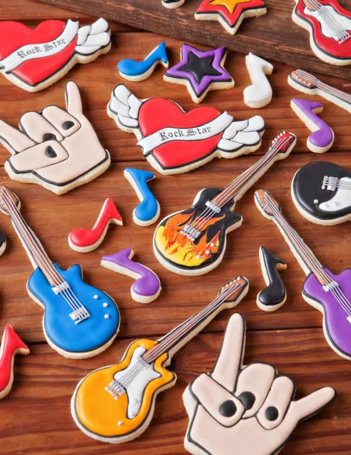 Rock star sugar cookie icing